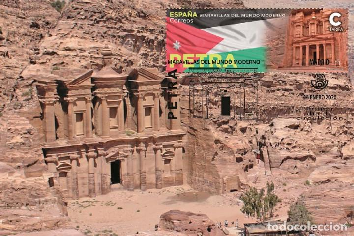 SPAIN 2020 - WONDERS OF THE WORLD - PETRA MAXIMUM CARD (Sellos - Extranjero - Tarjetas Máximas)