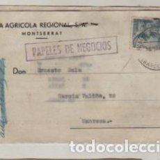 Sellos: TARJETA POSTAL LA AGRICOLA REGIONAL SA DE MONTSERRAT 1954. Lote 192804745