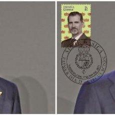 Sellos: SPAIN 2020 - BASIC SERIES - HRH KING FELIPE VI MAXIMUM CARD SET. Lote 193288010