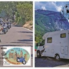 Sellos: SPAIN 2020 - TOURISM - SIGHTSEEING ROUTES ON TWO OR FOUR WHEELS MAXIMUM CARD SET. Lote 193288418