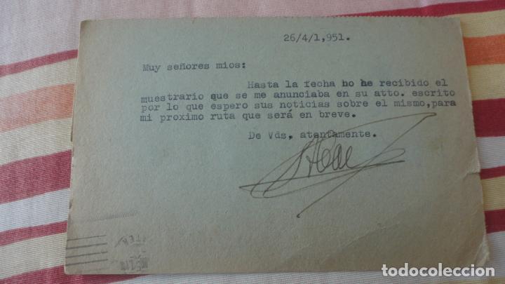 Sellos: ANTIGUA TARJETA ANTONIO CONTRERAS GONZALEZ.AGENTE COMERCIAL.GERGAL.ALMERIA 1951 - Foto 2 - 194182146