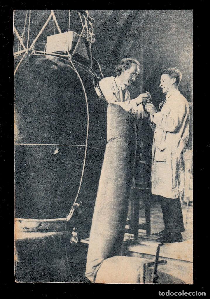 *** RARA TARJETA POSTAL DOCTOR PICCARD ASCENSO A 16.000 METROS. AGOSTO 1932 *** (Sellos - España - Tarjetas)