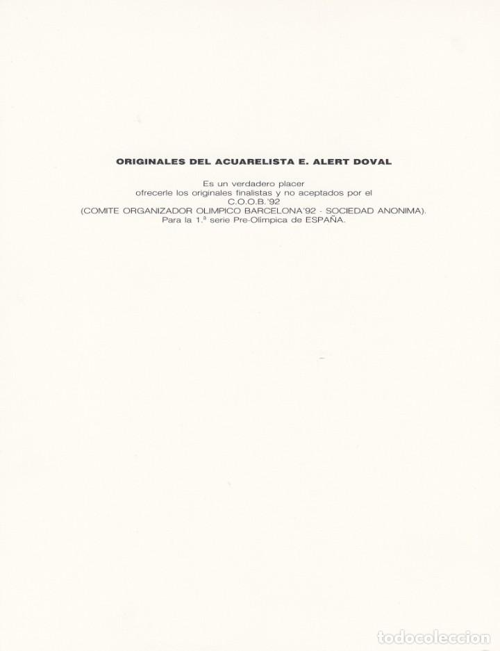 Sellos: BARCELONA 92 - DOCUMENTO FILATÉLICO CON EL FINALISTA DE LA 1. SERIE PREOLIMPICA- VER DORSO - Foto 2 - 197335458