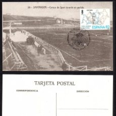 Selos: TARJETA 75 ANIV. REAL RACING SANTANDER CON MATASELLOS CONMEMORATIVO. Lote 197565617