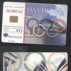 Sellos: ROMANIA 2000 TELEPHONE CARD SYDNEY 2000 ROM 68 CT.093. Lote 198275838