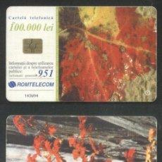 Sellos: ROMANIA 2001 TELEPHONE CARD AUTUMN ROM 125 CT.091. Lote 198275848