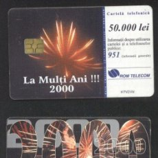 Sellos: ROMANIA 1999 TELEPHONE CARD HAPPY NEW YEAR ROM 49 CT.050. Lote 198275857