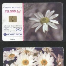 Sellos: ROMANIA 2001 TELEPHONE CARD FLOWERS ROM 115A CT.073. Lote 198275858