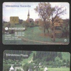 Sellos: ROMANIA 2002 TELEPHONE CARD MONASTERIES CHURCHES CT.020. Lote 198275898