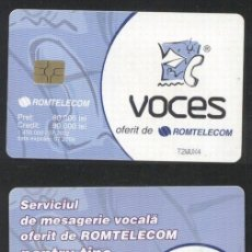 Sellos: ROMANIA 2002 TELEPHONE CARD VOCES ROM 156 CT.088. Lote 198275918