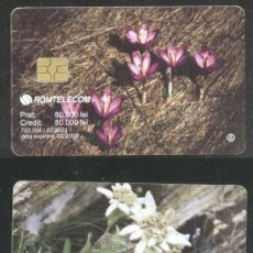 Sellos: ROMANIA 2003 TELEPHONE CARD FLOWERS ROM 178A CT.032. Lote 198275928