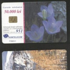Sellos: ROMANIA 2001 TELEPHONE CARD FLOWERS MOUNTAINS ROM 102A CT.042. Lote 198275937