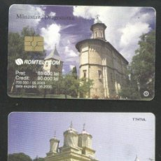 Sellos: ROMANIA 2003 TELEPHONE CARD MONASTERIES ROM 192A CT.038. Lote 198275953