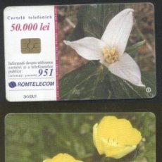 Sellos: ROMANIA 2001 TELEPHONE CARD FLOWERS ROM 118 CT.067. Lote 198275957