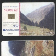 Sellos: ROMANIA 2001 TELEPHONE CARD MOUNTAINS ROM 122 CT.087. Lote 198275967