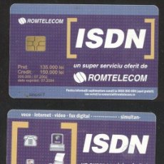 Sellos: ROMANIA 2002 TELEPHONE CARD ISDN 150.000 ROM 158 CT.039. Lote 198275997