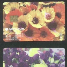 Sellos: ROMANIA 2003 TELEPHONE CARD FLOWERS ROM 196A CT.034. Lote 198276067