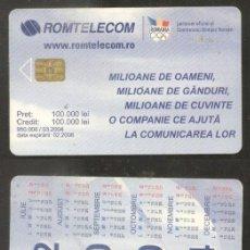 Sellos: ROMANIA 2004 TELEPHONE CARD CALENDAR CT.035. Lote 198276107