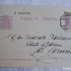 Sellos: TARJETA POSTAL REPUBLICA Y MATASELLOS AMBULANTE NUMERADO 1935 T23. Lote 199200147