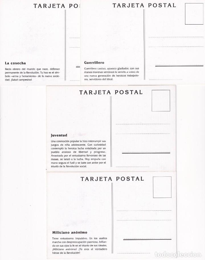 Sellos: GUERRA CIVIL ESPAÑOLA ESTAMPAS DE LA REVOLUCION ANTIFASCISTA. JUEGO COMPLETO DE 16 TARJETAS POSTALES - Foto 6 - 199914906