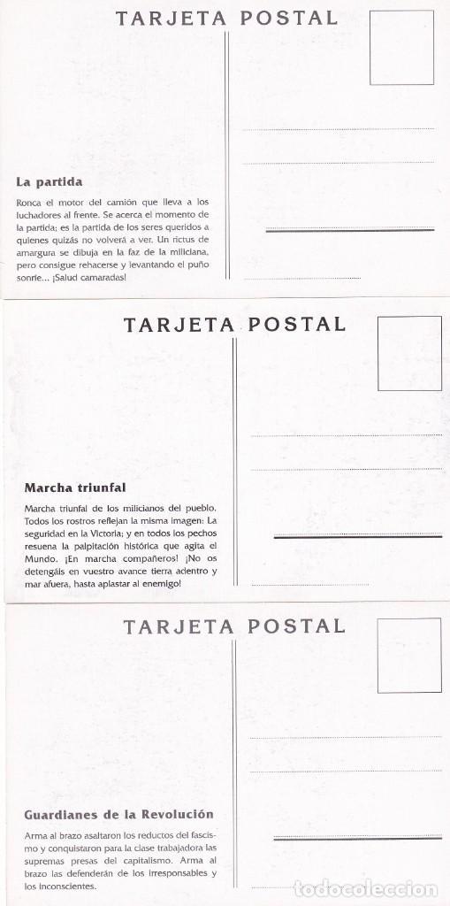 Sellos: GUERRA CIVIL ESPAÑOLA ESTAMPAS DE LA REVOLUCION ANTIFASCISTA. JUEGO COMPLETO DE 16 TARJETAS POSTALES - Foto 8 - 199914906