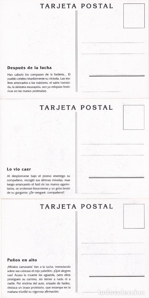 Sellos: GUERRA CIVIL ESPAÑOLA ESTAMPAS DE LA REVOLUCION ANTIFASCISTA. JUEGO COMPLETO DE 16 TARJETAS POSTALES - Foto 9 - 199914906