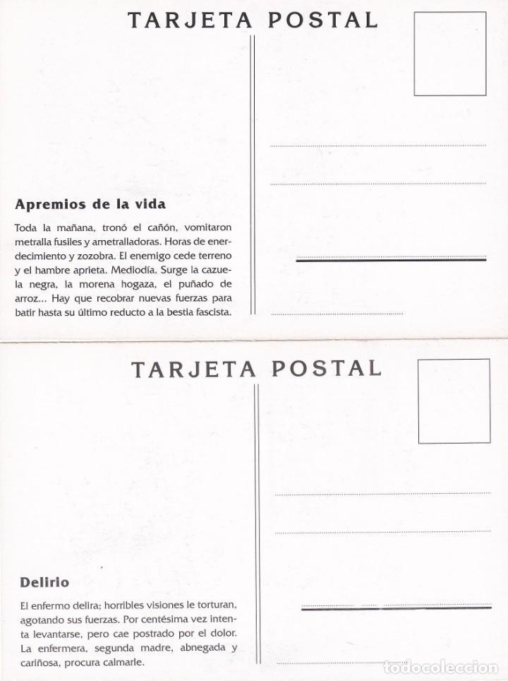 Sellos: GUERRA CIVIL ESPAÑOLA ESTAMPAS DE LA REVOLUCION ANTIFASCISTA. JUEGO COMPLETO DE 16 TARJETAS POSTALES - Foto 10 - 199914906