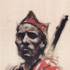 Sellos: GUERRA CIVIL ESPAÑOLA ESTAMPAS DE LA REVOLUCION ANTIFASCISTA: UN HEROE EN RARA TARJETA POSTAL.. Lote 199918482