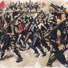Sellos: GUERRA CIVIL ESPAÑOLA ESTAMPAS DE LA REVOLUCION ANTIFASCISTA: MARCHA TRIUNFAL EN RARA TARJETA POSTAL. Lote 199919211