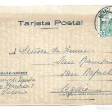Sellos: TARJETA POSTAL -CIRCULADA DE VITORIA A SEGOVIA EL 6 - 8 -1.951. Lote 202542935