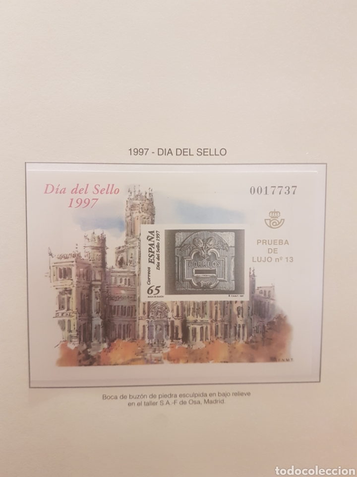 SELLO ESPAÑA 1997 (Sellos - España - Tarjetas)