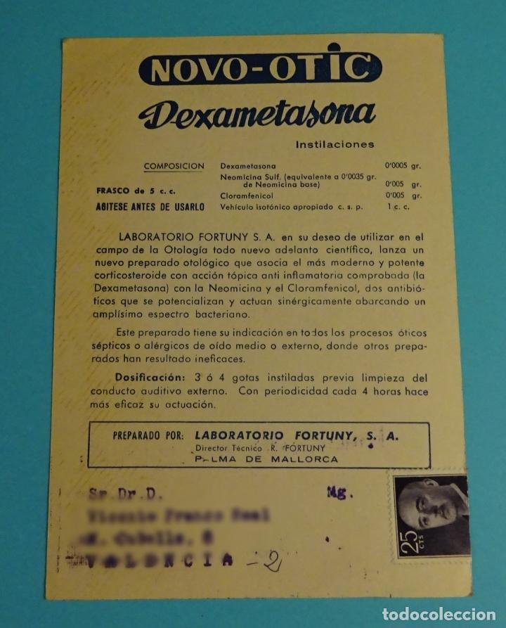 TARJETA POSTAL MALLORCA. SOLLER.CON PUBLICIDAD LABORATORIO MÉDICO FORTUNY (Sellos - España - Tarjetas)