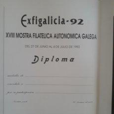 Sellos: DIPLOMA FILATELIA EXFIGALICIA 92. Lote 203115442