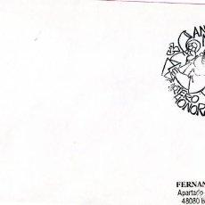 Selos: SOBRE CON EL MATASELLO ESPECIAL DE LA FRANQUICIA CARTERO HONORARIO DE ANTONIO MINGOTE. Lote 203597352