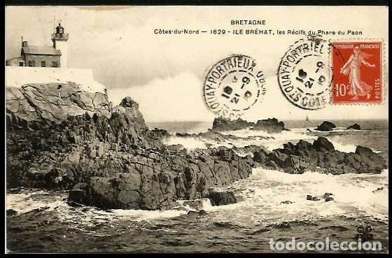 FRANCIA 1910 FARO DE PAON (Sellos - Extranjero - Tarjetas)