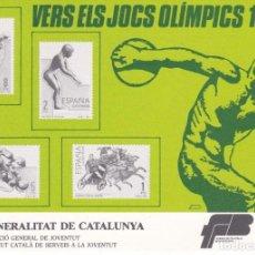 Sellos: TARJETA POSTAL DE VERS ELS JOCS OLIMPICS DE BARCELONA 92 (OLYMPIC GAMES). Lote 205393640