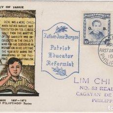 Timbres: LOTE B- SOBRE SELLOS FILIPINAS 1955. Lote 206325950