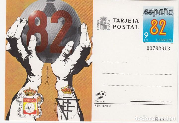 TARJETA POSTAL FIFA 82 ESPAÑA 82 CORREOS Nº BAJO 00782613 VALOR 9 PTA (Sellos - Extranjero - Tarjetas)