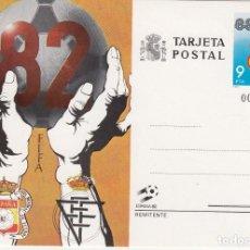 Sellos: TARJETA POSTAL FIFA 82 ESPAÑA 82 CORREOS Nº BAJO 00782613 VALOR 9 PTA. Lote 211607899