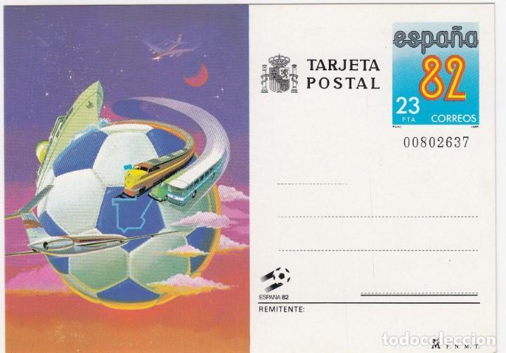 TARJETA POSTAL ESPAÑA 82 CORREOS Nº BAJO 00802637 VALOR 23 PTA (Sellos - Extranjero - Tarjetas)