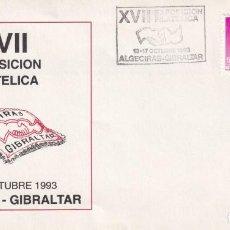 Francobolli: SOBRE PRIMER DE X VII EXPOSICION FILATELICA 1993 EN ALGECIRAS - GIBRALTAR. Lote 215072377