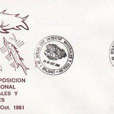 Sellos: SOBRE PRIMER DE 4º BOLSA EXPOSICION INTERNACIONAL DE MINERALES Y FOSILES BILBAO 1981. Lote 215074581
