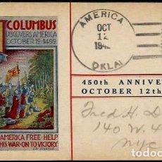 Sellos: USA 1942 TP COLON 450 ANIVERSARIO. Lote 216575036