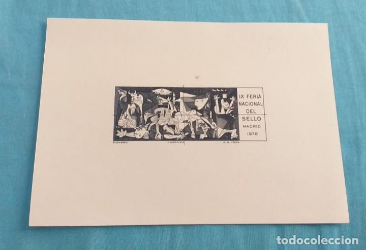 HOJITA IX FERIA NACIONAL DEL SELLO 1976. (Sellos - España - Tarjetas)