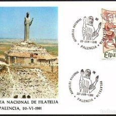 Sellos: TARJETA ASAMBLEA NACIONAL DE FILATELIA - PALENCIA 1.981. Lote 218500460