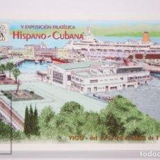 Sellos: TARJETA DEL CORREO:EXPOSICIÓN FILATELICA HISPANO-CUBANA VIGO ABRIL 1998, Nº 36-1 TARIFA NACIONAL. Lote 218559256
