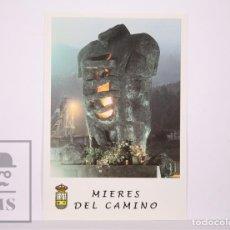 Sellos: TARJETA DEL CORREO:MONUMENTO A LOS MINEROS FALLECIDOS MIERES DEL CAMINO,Nº 33-1 TARIFA NACIONALL. Lote 218559572