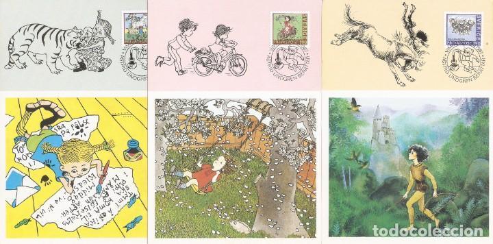 SUECIA..1987. TARJETAS MÁXIMAS . ILUSTRACIONES LIBROS PARA NIÑOS. (Sellos - Extranjero - Tarjetas Máximas)