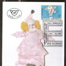 Timbres: AUSTRIA. 1993. T. MÁXIMA. PAYASO. NIÑOS. INFANTIL.. Lote 218618318