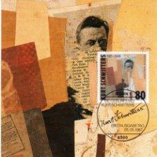 Sellos: ALEMANIA FEDERAL.1986. T. MÁXIMA. KURT SCHWITTERS. ARTISTA ALEMÁN.. Lote 276780318